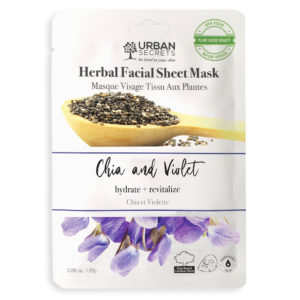The Urban Secrets Chia and Violet Sheet Mask